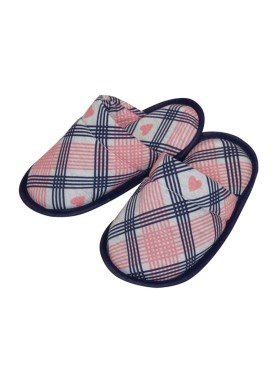 pantufa infantil feminina coracoes rosa evanilda 82010006