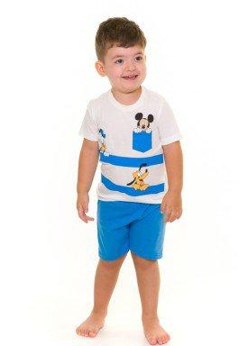 pijama curto infantil masculino disney branco evanilda 61030003