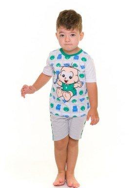 pijama curto infantil masculino turma da monica branco evanilda 61040007