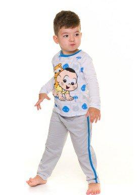 pijama longo infantil masculino turma da monica branco evanilda 41040011