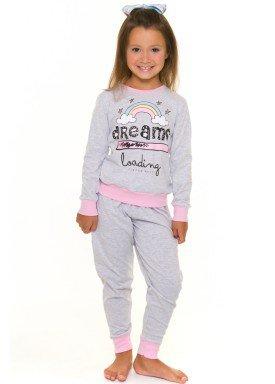 pijama longo infantil feminino dreams mescla evanilda 24010061