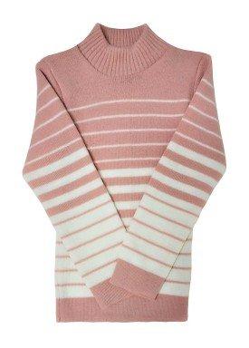 blusa la infantil feminina listras rosa remyro 0902