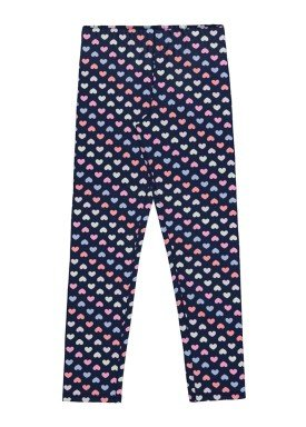 calca legging infantil feminina coracoes marinho alakazoo 39644