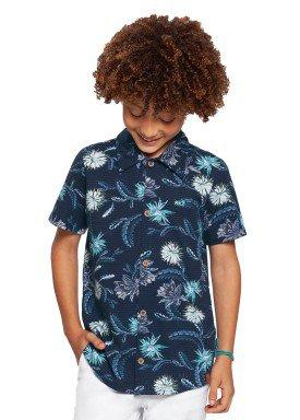camisa infantil masculina floral marinho alakazoo 39826 1