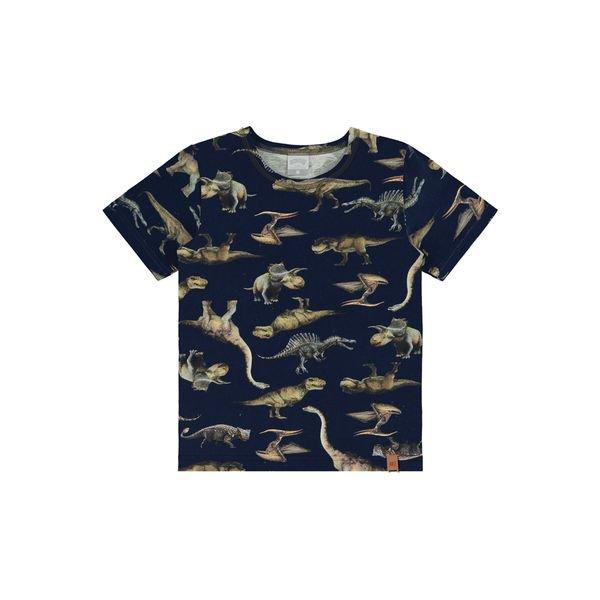 camiseta infantil masculina dinossauros marinho alakazoo 39791