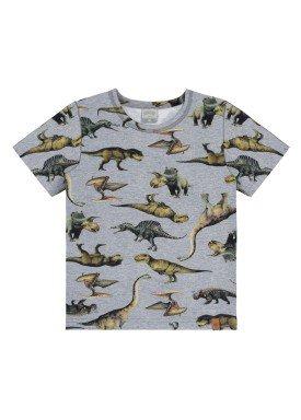 camiseta infantil masculina dinossauros mescla alakazoo 39791