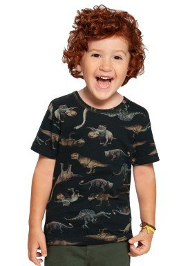 camiseta infantil masculina dinossauros verde alakazoo 39791 1