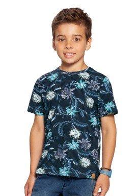 camiseta infantil masculina floral marinho alakazoo 39823 1