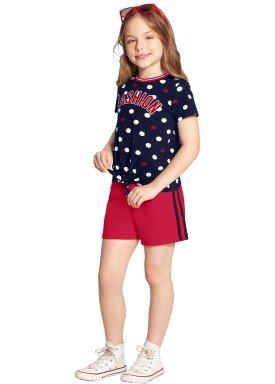 conjunto infantil feminino fashion marinho alakazoo 39602 1