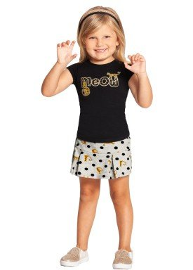 conjunto infantil feminino meow preto alakazoo 39585 1