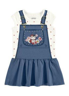 vestido bebe feminino joaninha marinho alakazoo 39541
