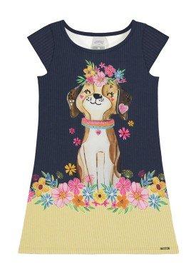 vestido infantil feminino dog marinho alakazoo 39561