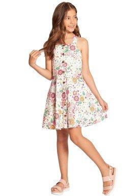 vestido infantil feminino floral offwhite alakazoo 39606 1