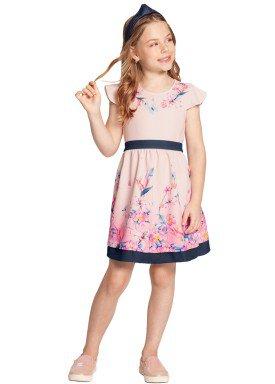 vestido infantil feminino flores rosa alakazoo 39613 1