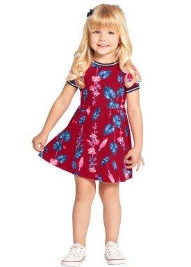 vestido infantil feminino folhas vermelho alakazoo 39564 1