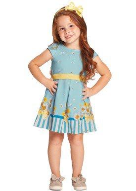 vestido infantil feminino margarida azul alakazoo 39588 1