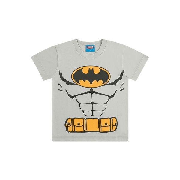 camiseta infantil masculina batman cinza kamylus 82224