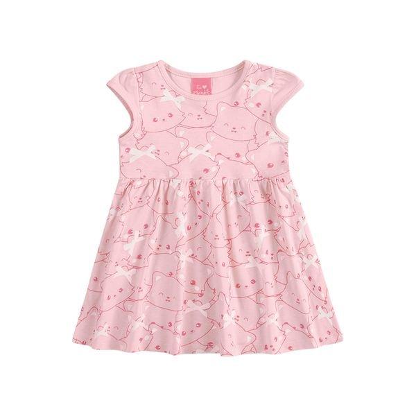 vestido suedine bebe feminino cute rosa kamylus 10145