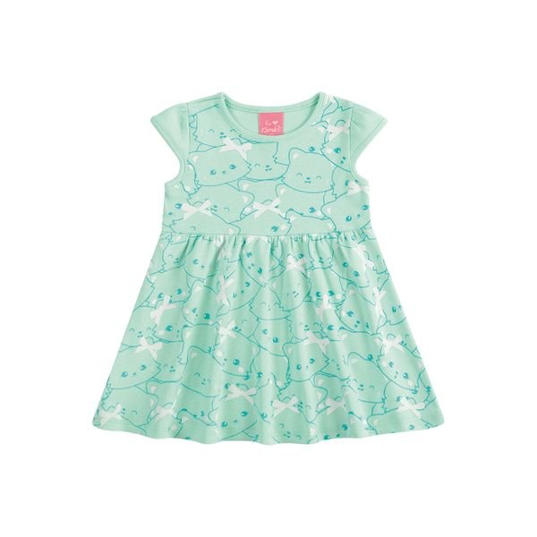 vestido suedine bebe feminino cute verde kamylus 10145