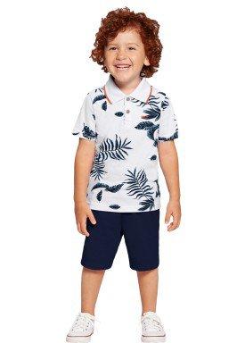 conjunto infantil masculino folhas branco alakazoo 39790 1