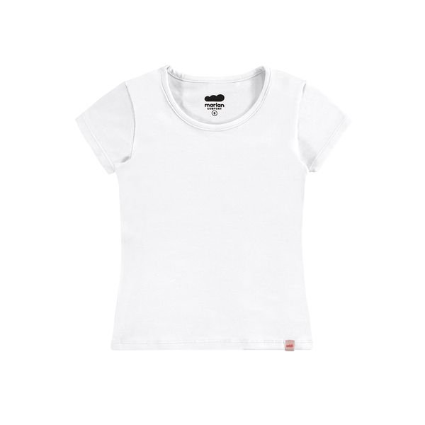 blusa basica infantil feminina branco marlan 54008