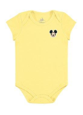 body bebe masculino mickey amarelo marlan d5412