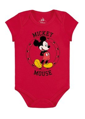 body bebe masculino mickey vermelho marlan d4139