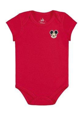 body bebe masculino mickey vermelho marlan d5412