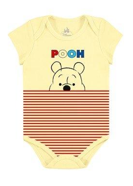 body bebe masculino ursinho pooh amarelo marlan d4171