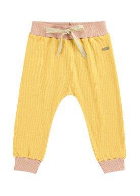 calca bebe feminina amarelo marlan 40405