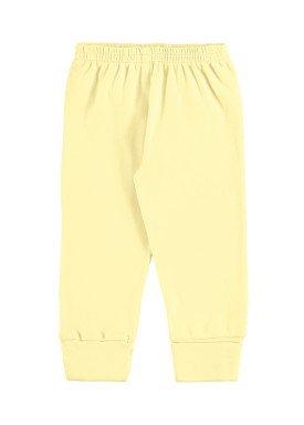 calca suedine bebe unissex amarelo marlan 54136