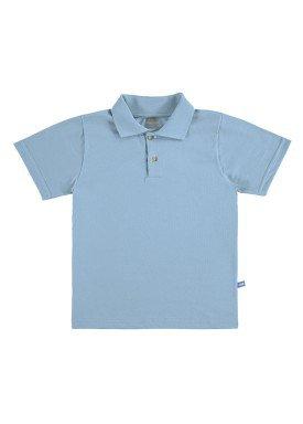 camisa polo basica infantil masculina azul marlan 54031