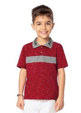 camisa polo infantil masculina sport vermelho marlan 44669 1