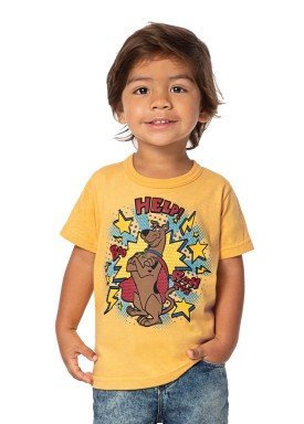 camiseta infantil masculina scooby doo amarelo marlan g4201 1