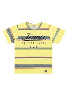 camiseta infantil masculina tennis amarelo marlan 44668