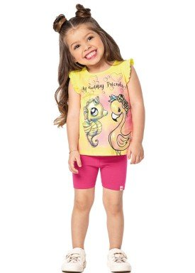 conjunto infantil feminino friends amarelo marlan 42441 1