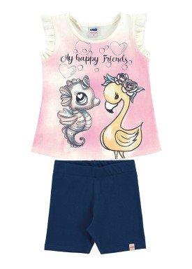 conjunto infantil feminino friends marfim marlan 42441