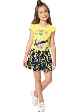conjunto infantil feminino lemonade amarelo marlan 44638 1