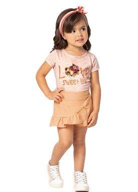 conjunto infantil feminino love laranja marlan 42430 1
