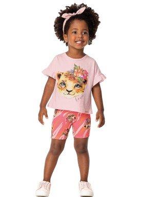 conjunto infantil feminino love rosa marlan 42427 1