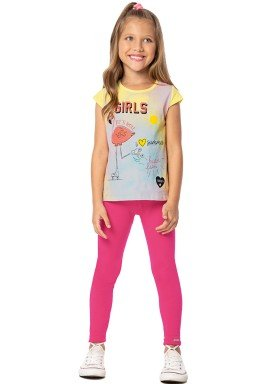 conjunto infantil feminino summer amarelo marlan 44645 1