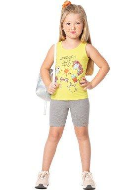 conjunto infantil feminino unicorn amarelo marlan 44642 1