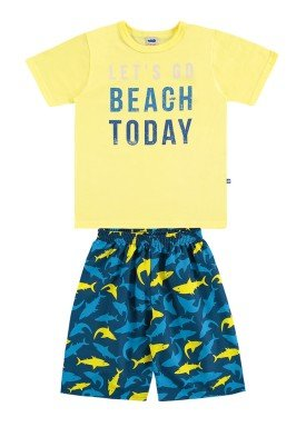 conjunto infantil masculino beach amarelo marlan 44652