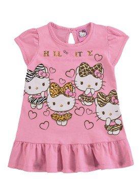 vestido bebe feminino hello kitty rosa marlan y4010
