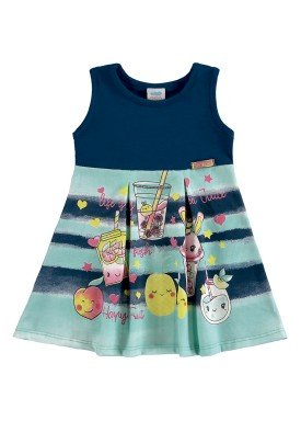 vestido bebe feminino juice marinho marlan 40399