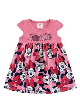 vestido bebe feminino minnie rosa marlan d4147