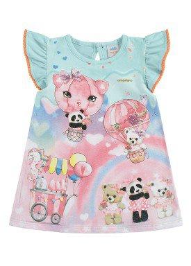vestido bebe feminino ursinhos azul marlan 40347