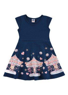 vestido infantil feminino carrossel marinho marlan 42440