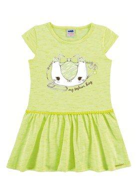 vestido infantil feminino fashion verde marlan 42429