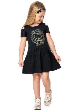 vestido infantil feminino hello kitty preto marlan y4027 1